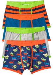 Lot de 4 boxers, bpc bonprix collection, bleu/gris/orange