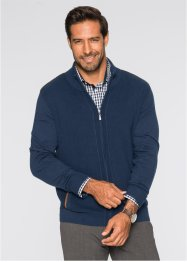 Gilet en maille Regular Fit, bpc selection, bleu foncé
