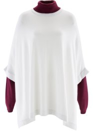 Pull poncho, bpc bonprix collection, blanc cassé