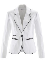 Blazer extensible, bpc selection, blanc/noir
