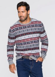 Pull norvégien col rond Regular Fit, bpc bonprix collection