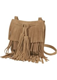 Sac à franges en cuir, bpc bonprix collection, cognac
