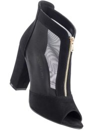 Bottines peep-toe, BODYFLIRT, noir