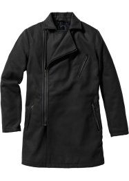 Manteau court biker Regular Fit, RAINBOW, noir