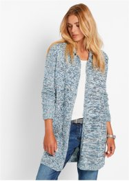 Gilet long en maille, manches longues, bpc bonprix collection