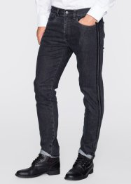 Jean extensible 5 poches Slim Fit Straight, RAINBOW, anthracite denim