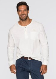 T-shirt manches longues Regular Fit, bpc selection, blanc cassé