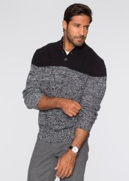 Pull Regular Fit, bpc selection, noir/blanc