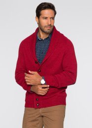 Gilet en maille Regular Fit, bpc selection, rouge foncé chiné