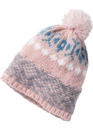 Bonnet à pompon, bpc bonprix collection, rosé/gris/bleu clair