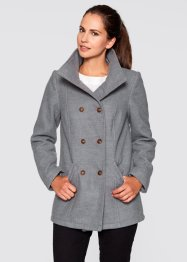 Veste caban, bpc bonprix collection, gris chiné