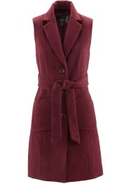 Gilet blazer aspect laine, bpc selection, rouge érable