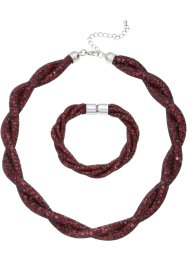 Parure collier + bracelet, bpc bonprix collection, bordeaux