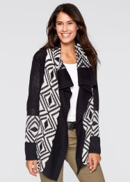 Gilet en maille, bpc bonprix collection, noir imprimé