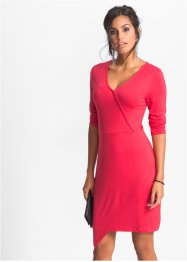 Robe jersey style portefeuille, BODYFLIRT, rouge