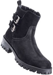 Bottines en cuir, bpc bonprix collection, noir
