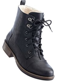 Bottines à lacets, bpc bonprix collection, noir