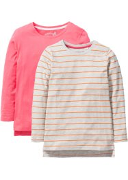 Lot de 2 T-shirts manches longues, bpc bonprix collection
