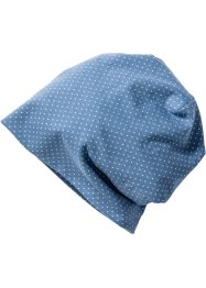Beanie à pois, bpc bonprix collection, bleu pigeon