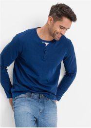 T-shirt manches longues aspect 2en1 Regular Fit, bpc bonprix collection, bleu gentiane