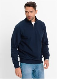 Sweat-shirt col camionneur Regular Fit, bpc bonprix collection, bleu foncé