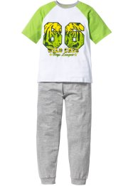 Pyjama (Ens. 2 pces.), bpc bonprix collection, vert/blanc