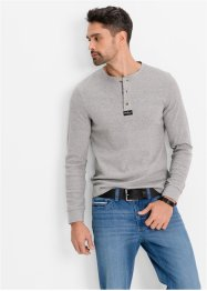 T-shirt manches longues Regular Fit, John Baner JEANSWEAR, gris clair chiné