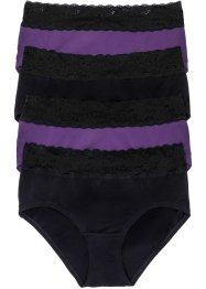Lot de 4 maxi slips, bpc selection, myrtille/noir