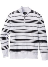 Pull camionneur rayé Regular Fit, bpc selection, blanc/noir
