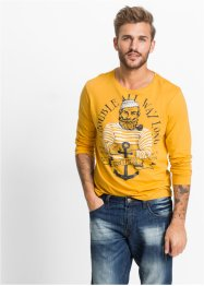 T-shirt manches longues Slim Fit, RAINBOW, jaune