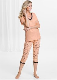 Lot de 2 leggings corsaire coton bio, bpc selection