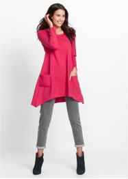 Robe sweat manches longues, bpc bonprix collection, rose hibiscus chiné