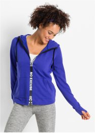 Veste sweat-shirt fonctionnelle, manches longues, bpc bonprix collection, bleu saphir