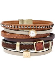 Bracelet large, bpc bonprix collection, marron