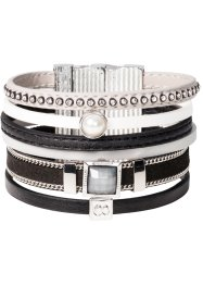 Bracelet large, bpc bonprix collection, noir/gris