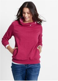 Sweat-shirt, bpc bonprix collection, rouge baie