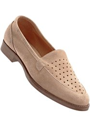 Slippers en cuir, bpc bonprix collection, camel