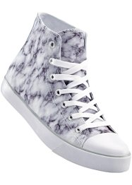 Sneakers high, bpc bonprix collection, blanc marbré