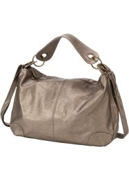 Sac à bandoulière washed metallic, bpc bonprix collection, taupe métallique