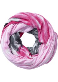 Écharpe-tube Rainbow, bpc bonprix collection, anthracite/fuchsia foncé/rose