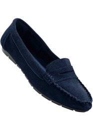 Mocassins en cuir, bpc selection, bleu
