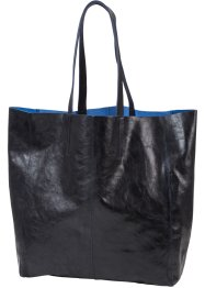 Shopper en cuir brillant, bpc bonprix collection, noir métallique