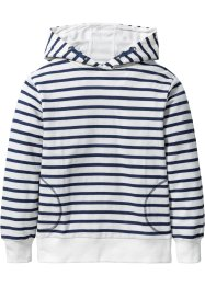 Gilet sweat-shirt rayé à capuche, bpc bonprix collection