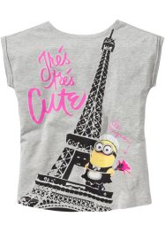T-shirt MINIONS, Despicable Me 2, gris clair chiné