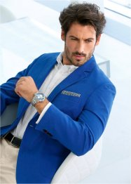 Veston en coton Regular Fit, bpc selection, bleu