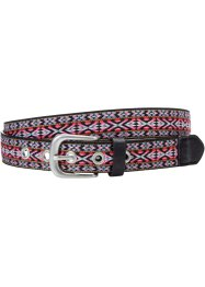 Ceinture, bpc bonprix collection, noir/multicolore