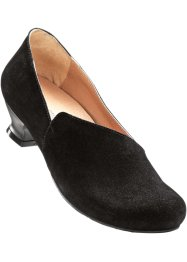 Slippers confortables en cuir, bpc selection, noir