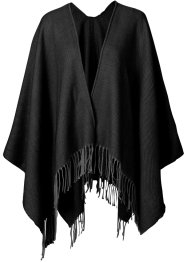 Poncho uni, bpc bonprix collection, noir