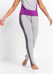 Legging fonctionnel long, bpc bonprix collection, gris clair chiné