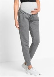 Pantalon fitness de grossesse, bpc bonprix collection, gris chiné/gris clair chiné